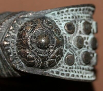 Antique Greek medieval bronze fertility bracelet
