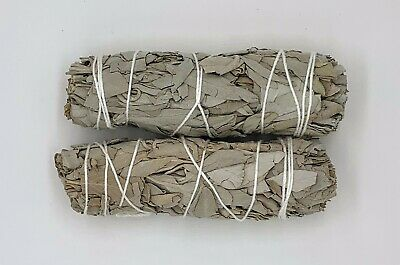 "2X White Sage Smudge Sticks / Wands 4 - 5 "" Negativity Removal 2"