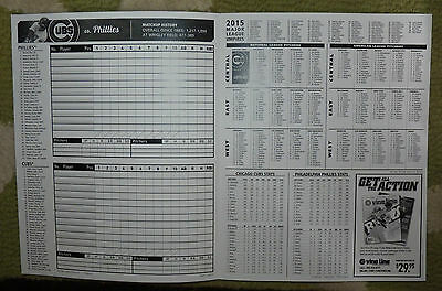 July 25 2015 Cubs Unused Score Card Wrigley Cole Hamels Phillies No Hitter No No 2