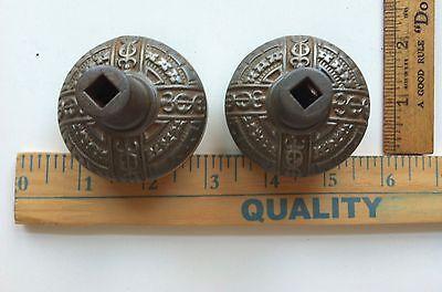 Antique Victorian Era Door Lock Knobs Very Ornate NICE ONES 3