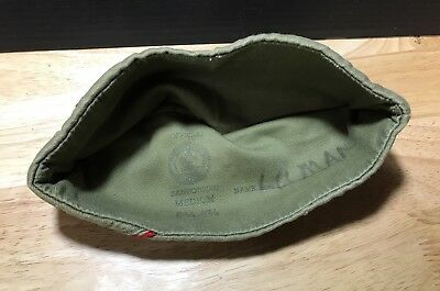 Vintage BOY SCOUTS Official BSA Army Green Garrison Sanforized HAT CAP Medium
