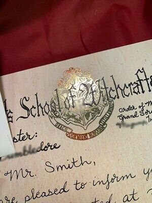 """Replica"" Hogwarts Acceptance Letter - Handwritten & Personalized - Harry Potter 7"
