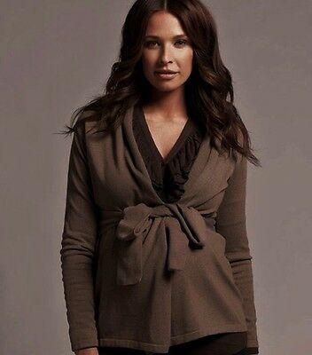 Ripe Maternity Chocolate Wrap Cardigan 8 10 12 14 16 18 Pre Post Pregnancy NEW