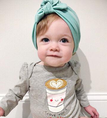 7ce97457751 ... Baby Girls Turban Knot Head Wrap Cute Kids Rabbit Ear Hat Bunny Ear  Cotton Cap 7