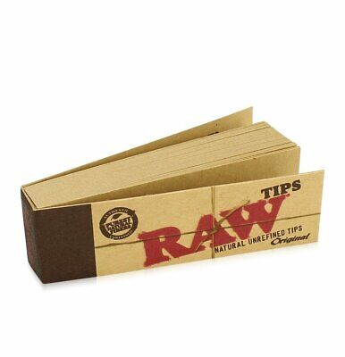 RAW Rolling Paper Smoking Chlorine Free Genuine Roach Roaches Book Filter Tips 4