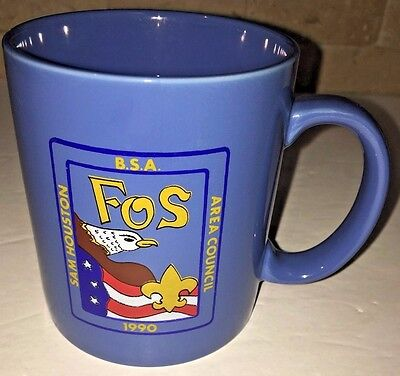 Cub Boy Scout Scouting Tea Coffee Mug Sam Houston Area Council Texas 1990 FOS