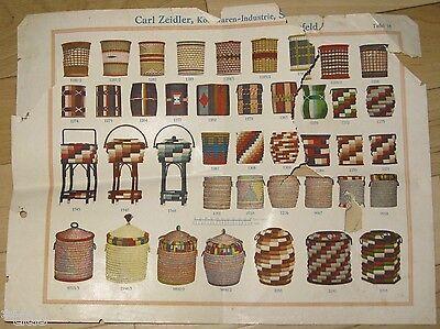 Carl Zeidler Korbwaren-Industrie Sonnefeld Katalog Musterbuch um 1935 Körbe 6