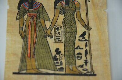old painting papyrus Egyptian Beautiful antique ancient Unique Extremely rare 6