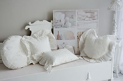 kissen r schenkissen zierkissen herz spitze landhaus shabby chic vintage eur 59 95 picclick de. Black Bedroom Furniture Sets. Home Design Ideas