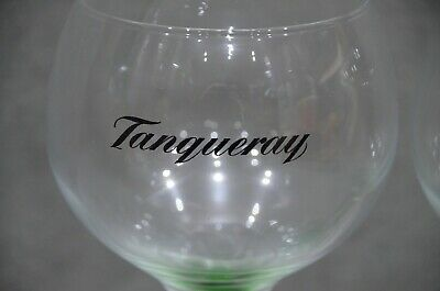 Tanqueray Balloon Large Glass Advertising Gin Bowl Goblet Two In Box Pair Of 2