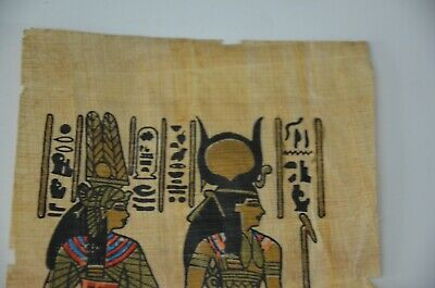 old painting papyrus Egyptian Beautiful antique ancient Unique Extremely rare 4