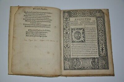 1494 incunabula AVGVSTINI DATTI SCRIBSE SENENSIS Rome Extremely rare antique 4
