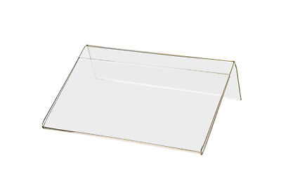 """5""""W x 3""""H Small Sign Frame Slant Back Small Signage Holder Qty 12 3"""