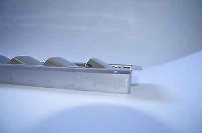 Grille d'aération 8 volets ( Moteur ) 427mmx76mm inox 316 - A4 2