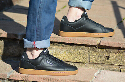 Reebok Royal Complete Clean LX black soft Leather Shoes UK 7-12 4