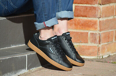Reebok Royal Complete Clean LX black soft Leather Shoes UK 7-12 3