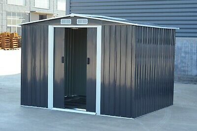 Mighty Metal Garden Shed Outdoor Storage House Tool Sheds with Free Foundation 8