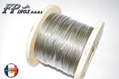 Câble inox A4 Trés Souple 7X19 ( 133 fils ) Diamètre 3  4  5  6 mm  inox 316- A4