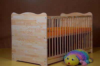 Baby Kinder ZIMMER Voll-MASSIVHOLZ Gravur 5 Farben Bettwäsche Matratze NEU Massi