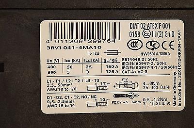 Siemens 3RV1041-4MA10 Leistungsschalter - Motorschutzschalter