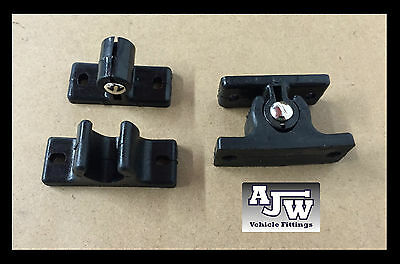 4 x Black Nylon Door Retainer / Hold Back Catch for Horseboxes, Trailer, Vans