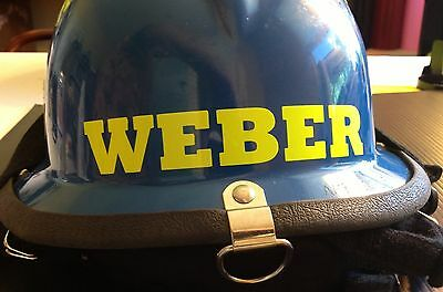 CUSTOM REFLECTIVE Lettering Decal For Fire Rescue Helmet Equipment - Custom reflective fire helmet decals
