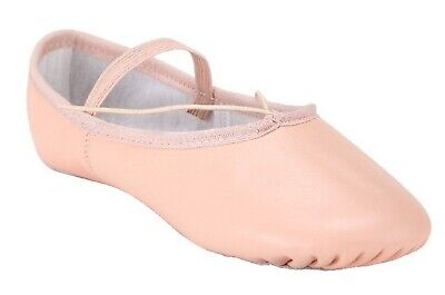 Ballet Dance Leather Shoes Full Sole Children's and Adult's Sizes 2