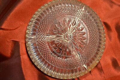 Sheratonn Silverplate Kristallschale mit 3-facher Einteilung und Silberrand 3