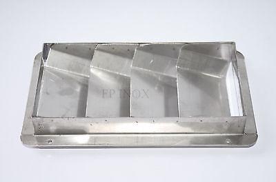 Grille d'aération 4 volets ( Moteur ) 205mmx112mm inox 316 2