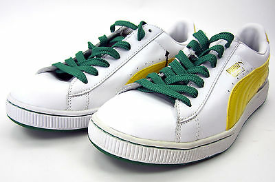 huge selection of cbc8c 5eb7a PUMA SHOES BASKET 70's Champs White/Yellow/Green Sneakers Size 8
