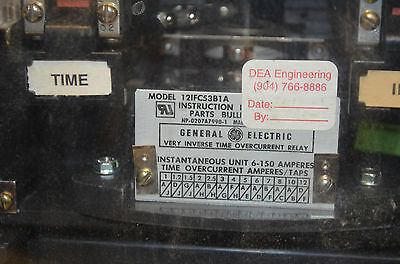 general electric 12ifc53b1a type overcurrent relay sesg • 345 14 general electric 12ifc53b1a type overcurrent relay sesg 2