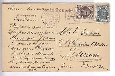 Cpa Europe Belgique  - Anvers Cortege Des Bijoux Globe Du Shah Nadlr 1923 ~C35