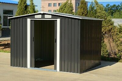 Mighty Metal Garden Shed Outdoor Storage House Tool Sheds with Free Foundation 7