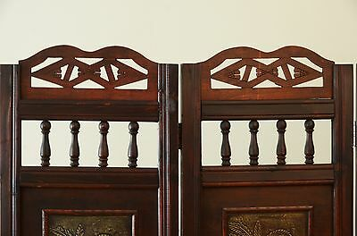 PALM TREE ROOM Divider Screen 4 Panel Wooden Frame 18800 PicClick