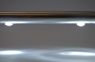 Main Courante 2 LED ☼ Blanche ( Rampe ) inox 316 Longueur 560mm