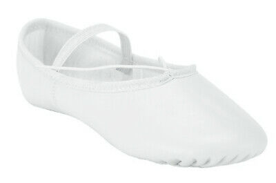 Ballet Dance Leather Shoes Full Sole Children's and Adult's Sizes 4