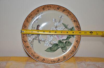 Japanese Kutani-ware Flower Bird pattern Bowl and Plate set Gold Cherry Blossom. 5