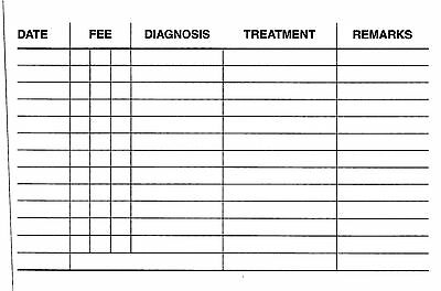 Chiropody Patient Record Cards - Pocket Size  - Podiatry Feet Record Cards 2