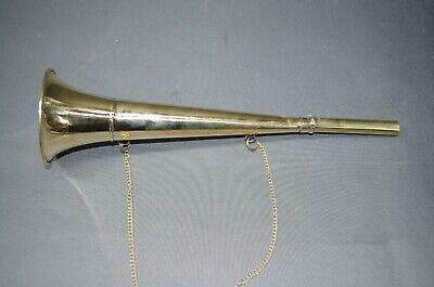 Messing Stethoskop Hörrohr Hearing Pipe Hörmaschine Ear Trumpet 37 cm mit Kette 3