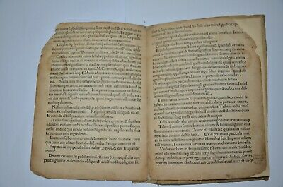 1494 incunabula AVGVSTINI DATTI SCRIBSE SENENSIS Rome Extremely rare antique 10