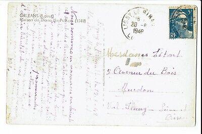 Cpa Carte Postale France Orleans Maison De Diane De Poitier 1948 S1875 Eur 4 50 Picclick Fr