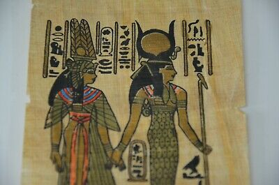 old painting papyrus Egyptian Beautiful antique ancient Unique Extremely rare 5