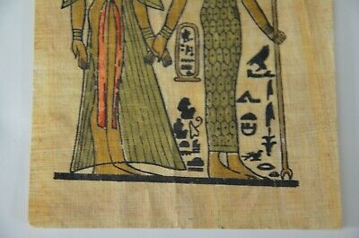 old painting papyrus Egyptian Beautiful antique ancient Unique Extremely rare 11