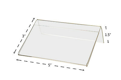 """5""""W x 3""""H Small Sign Frame Slant Back Small Signage Holder 2"""