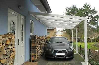Terrassendach Alu Sonnenschutz-Stegplatten klar Terrassenüberdachung 6 m breit 9