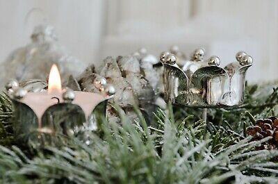 Kerzenhalter 4er Set Adventsleuchter Adventskranz Stecker Shabby Weihnachten