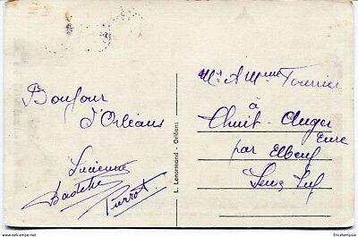CPA -Carte postale-France -Orléans - La place du Martroi-La Rue de la République