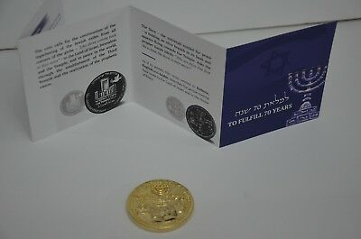 2018 70 Yrs King Cyrus Donald Trump Jewish Temple Coin authentic Big Sale WOW 8