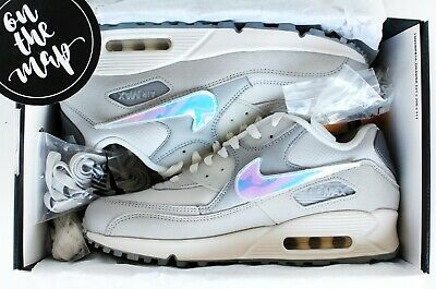 Nike Air Max 90 BSMNT Basement London Swoosh Grey Fog UK 5 7 8 9 10 11 US New