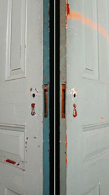 """2 avail 30""""x89""""x1.75"""" Antique Vintage Victorian Solid Wood Wooden 5 Doors Panels"""